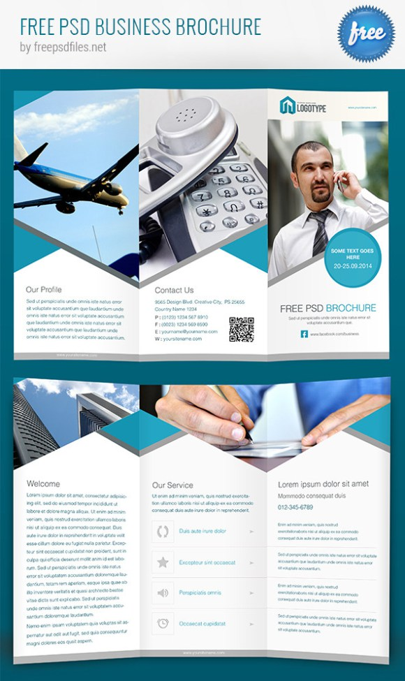 100 free premium brochure templates photoshop psd indesign ai free business brochure psd template accmission Gallery