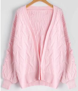 Chaqueta rosa de punto