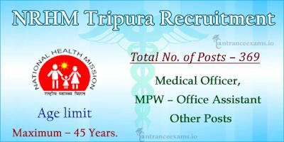 NHM Tripura Jobs 2017