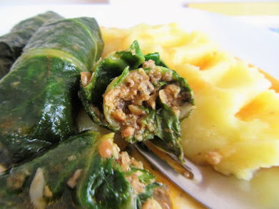 Japrak od šampinjona / Chard rolls with mushrooms