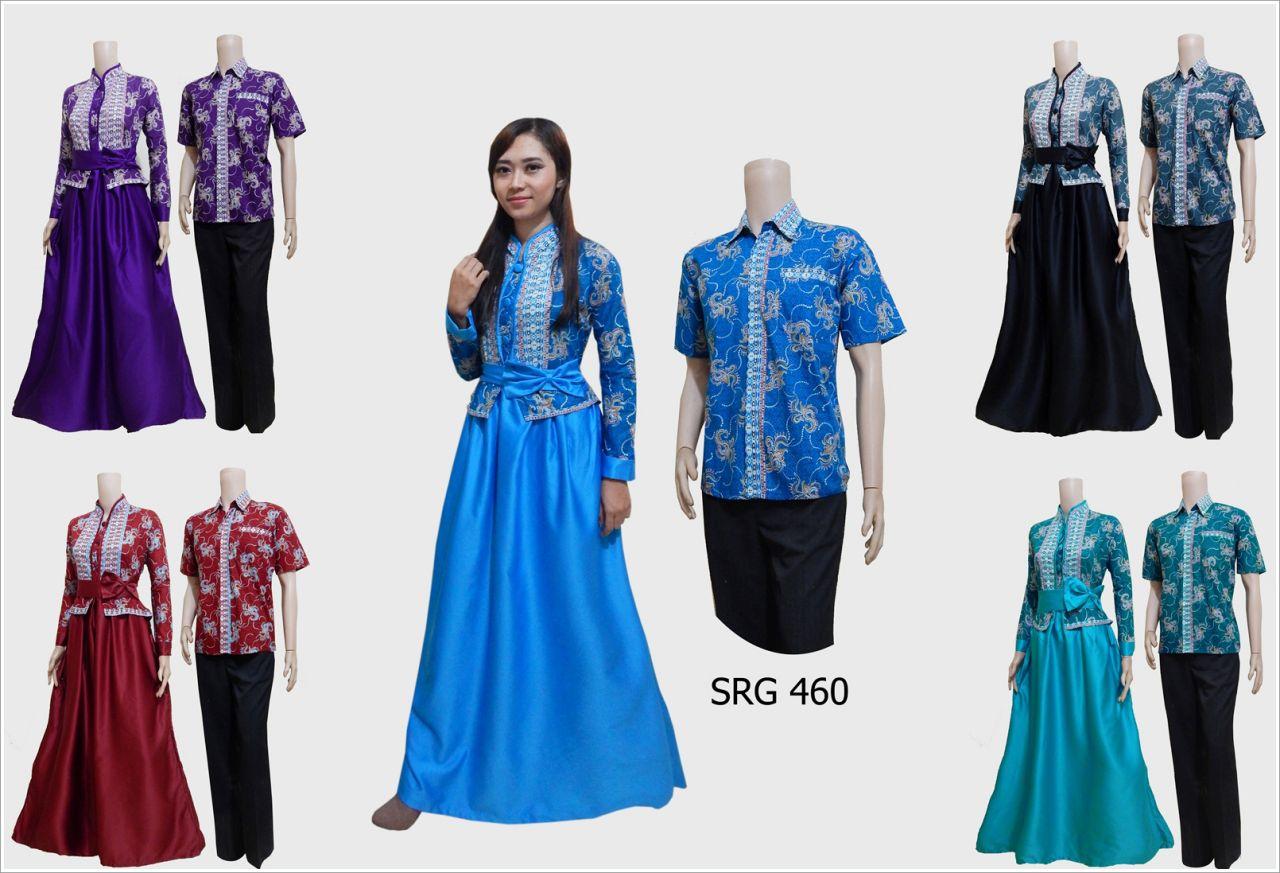 Jual couple gamis batik modern toko baju batik online Jual baju gamis couple 2015