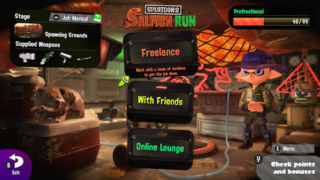 Splatoon 2 Salmon Run December 24 25 Squidmas Christmas supplied weapons Spawning Grounds Splat Dualies Roller Charger Splattershot Jr.