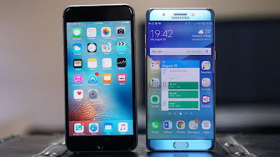 Samsung Galaxy Note 7 vs iPhone 6s Plus - consumer video comparison