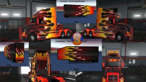 Flame Combo Pack for Volvo VNL 670