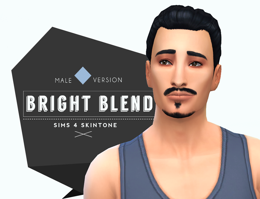 Bright Blend Skin for Males by LittleCrackers | The sims mod