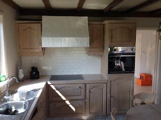 renovatie van eiken keuken