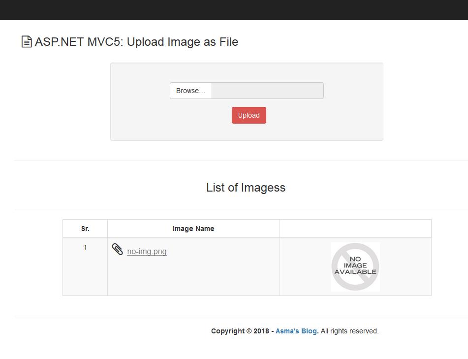 ASP NET MVC5: Upload Image/File as File - Asma's Blog