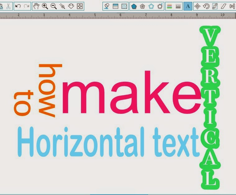 Silhouette Studio, vertical text, Silhouette tutorial