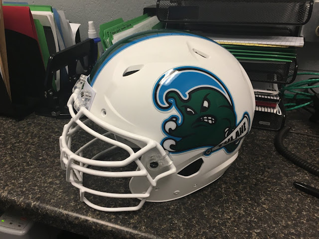 Tulane Angry Wave helmet