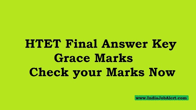 HTET  Grace Marks Answer key || Check your Marks Now
