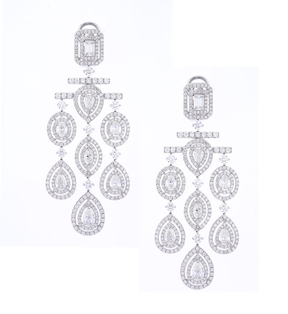 Entice Art Deco inspored diamond chandelier earrings