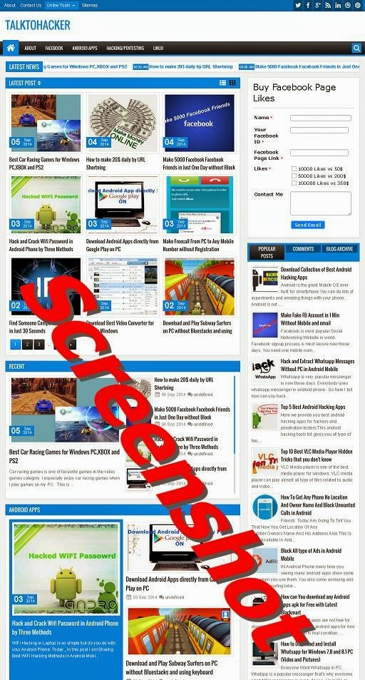 Capture Screenshot of Website Page in Web Browser
