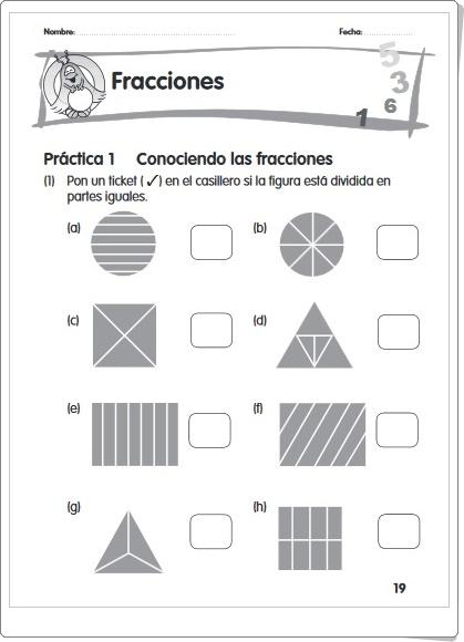 """""""Fracciones"""" (Cuadernillo de fracciones y números decimales)"""