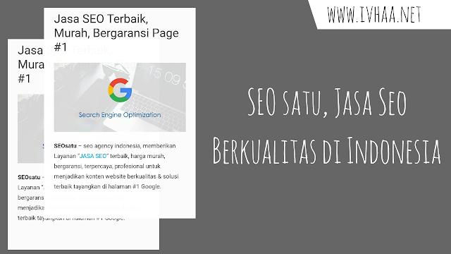 SEOsatu.com, Jasa SEO Nomor Satu di Indonesia Dengan Harga Murah