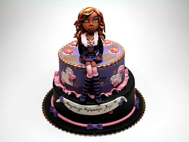 Birthday Cake with Clawdeen Wolf - Monster High