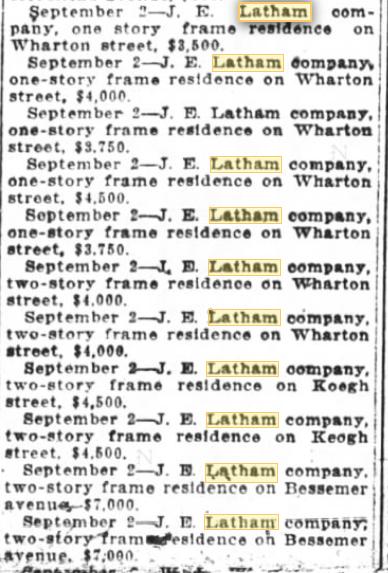aladdin building permits fisher park greensboro nc for j e latham 1919