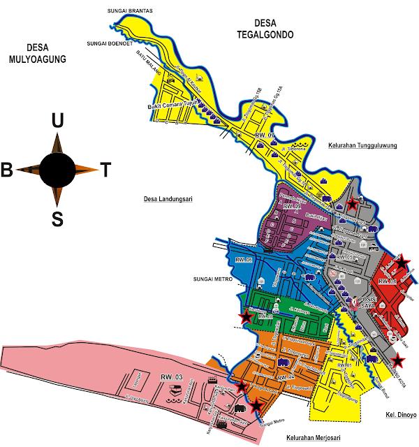 Peta Wilayah Tlogomas Malang