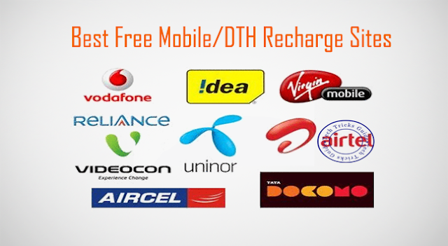 Top 10 Best Free Mobile & DTH Recharge Sites in India [Updated]
