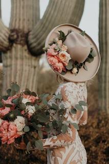 chapeau de feutre pour mariee blog mariage www.unjourmonprinceviendra26.com