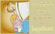 Texte faire part baptême gratuit