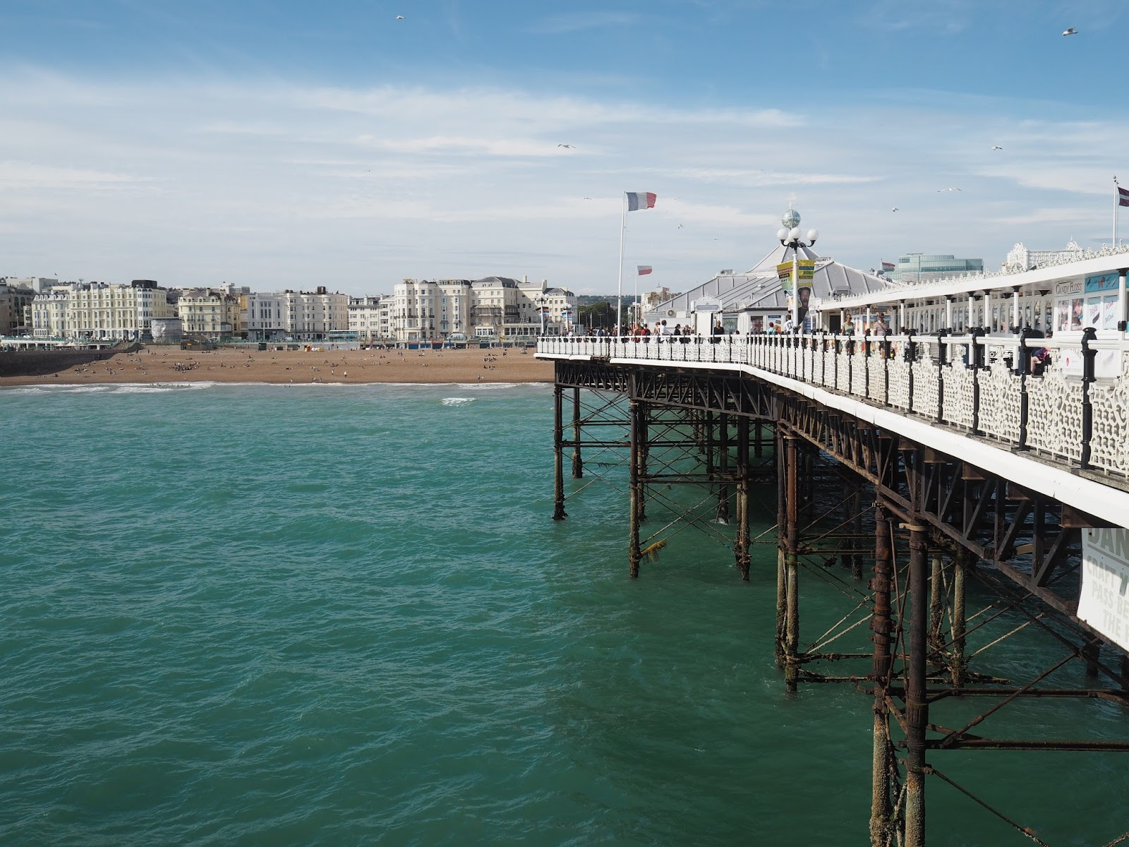 Brighton seafront viewed from Brighton Palace Pier
