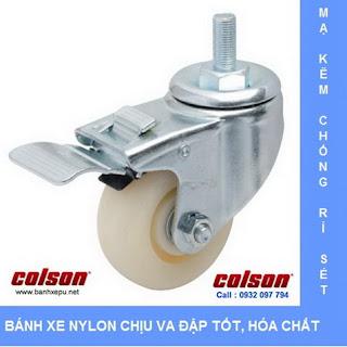 Bánh xe lắp trục ren bánh xe đẩy chịu tải trọng (82~122kg) banhxepu.net