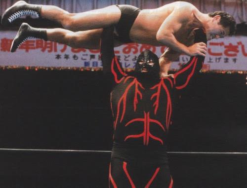 Big Van Vader overhead press Antonio Inoki