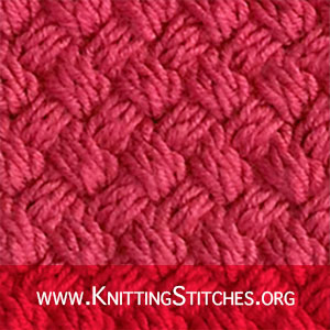 KNITTING PATTERN -  Diagonal BASKET WEAVE Stitch Pattern #knittingpattern #stitchpattern
