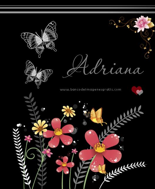Postales con flores y nombres de mujeres
