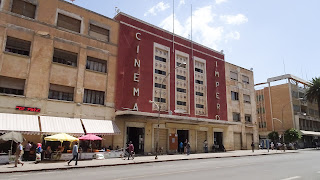 The old cinema in Asmara shows movies every day