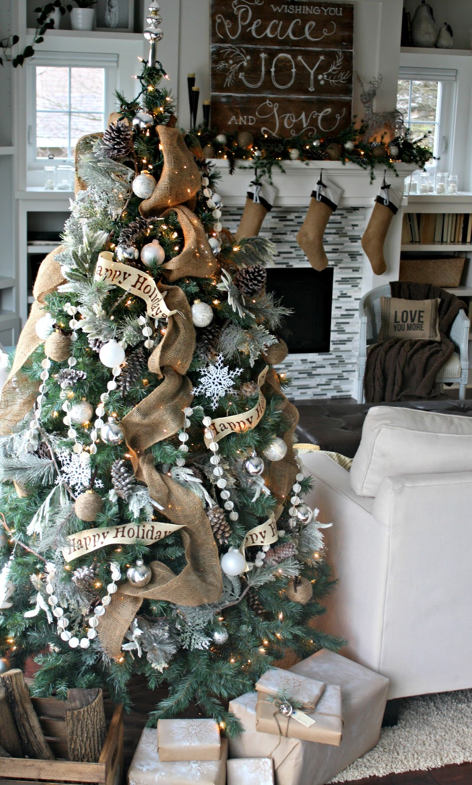 Gray Christmas Tree Decorations.O Christmas Tree The Lilypad Cottage