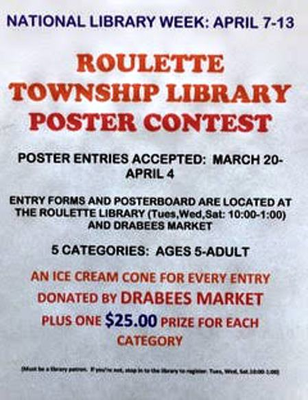 Roulette Library Poster Contest thru 4-4