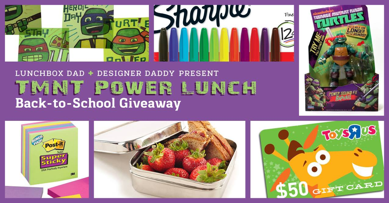 TMNT Teenage Mutant Ninja Turtles Bento Lunch and Giveaway