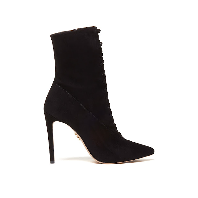 Suede Lace-up Stiletto Bootie as seen on Hailee Steinfield