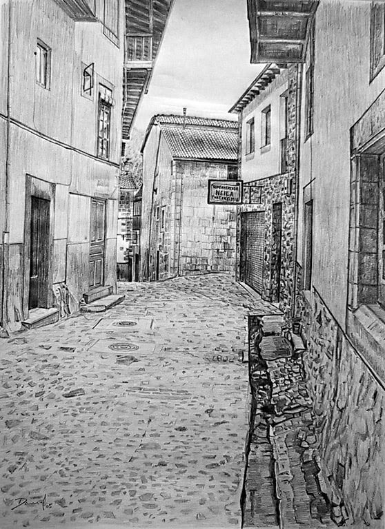07-Calle-de-Candelario-1-Daniel-Formigo-Pencil-Urban-Architectural-Drawings-www-designstack-co