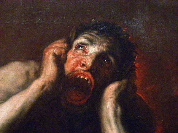 Luca Giordano, Macabre Art, Macabre Paintings, Horror Paintings, Freak Art, Freak Paintings, Horror Picture, Terror Pictures