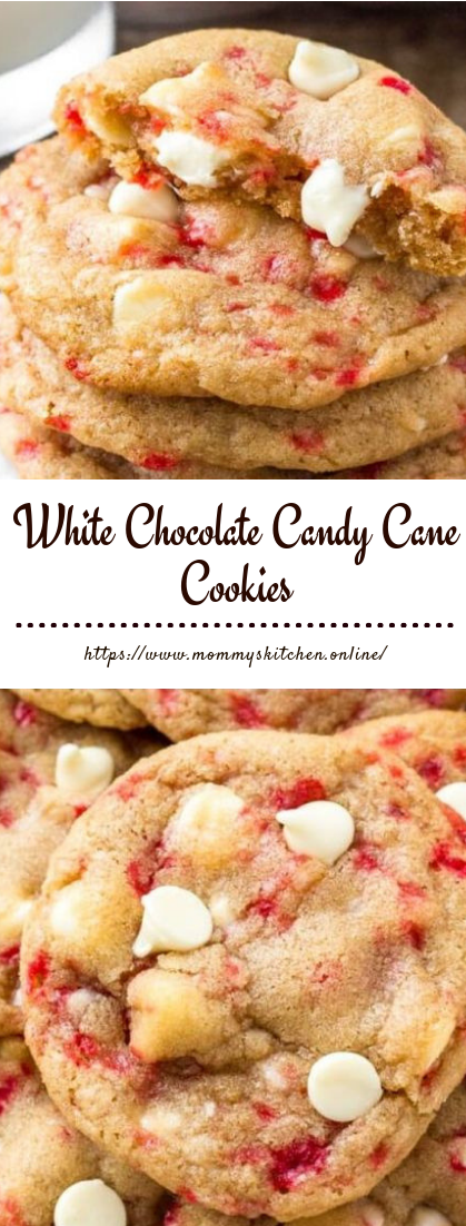 White Chocolate Candy Cane Cookies #dessert #easy