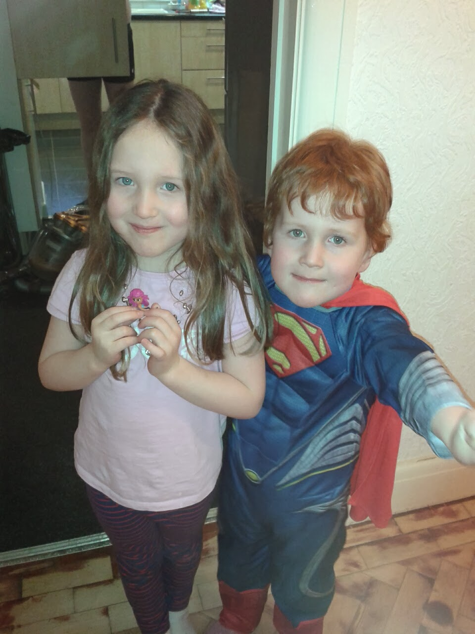 Caitlin & Ieuan as superman
