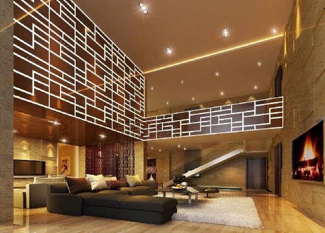 Contemporary Living Room Lighting Design