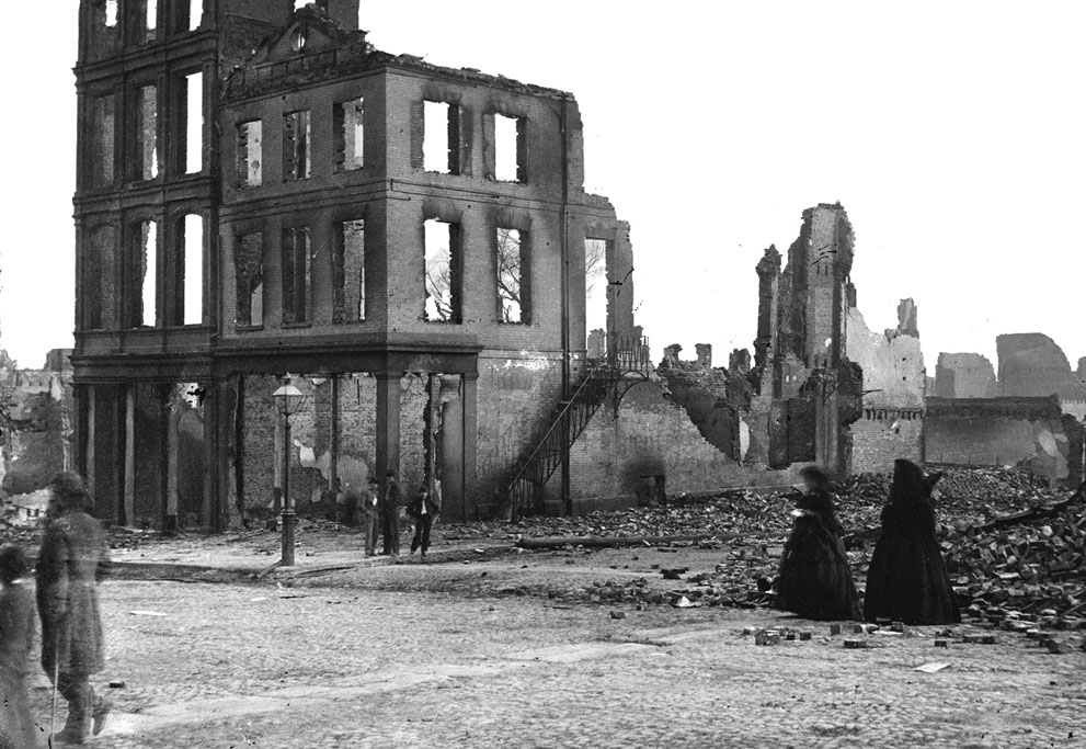 Las ruinas de Richmond, Virginia, en abril de 1865