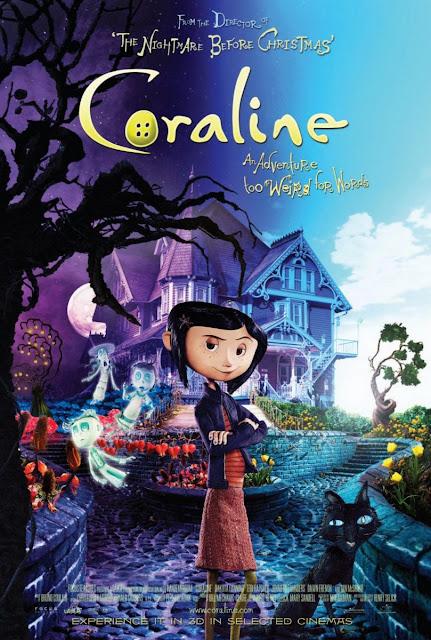 Cartel de la película Los Mundos de Coraline del director Henry Selick