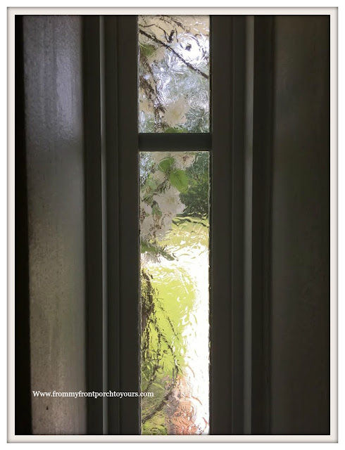 Privacy-Front Door Windows-DIY-Gallery Glass-Faux Stain Glass-From & From My Front Porch To Yours: Creating Privacy for Front Door Windows
