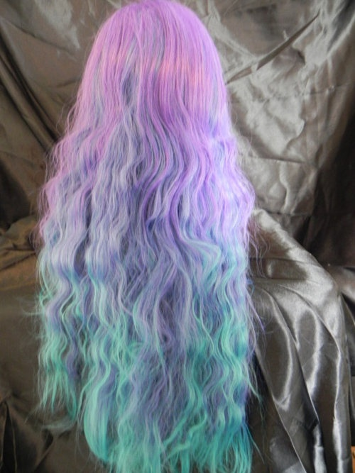 Purple Mermaid Hair Melting Into Magenta Hair Color By Of ...
