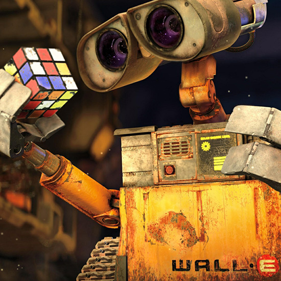 Wall E - Playing Rubiks Cube Wallpaper Engine