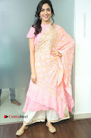 Actress Ritu Varma Pos in Beautiful Pink Anarkali Dress at at Keshava Movie Interview .COM 0050.JPG