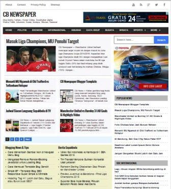 CB Newspaper  - Template Blog Majalah/Berita SEO Friendly