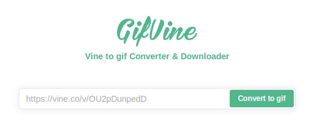 Gifvine : créer en ligne un GIF à partir d'une vidéo Vine