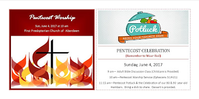 Pentecost Celebration, Sun, June 4, 2017