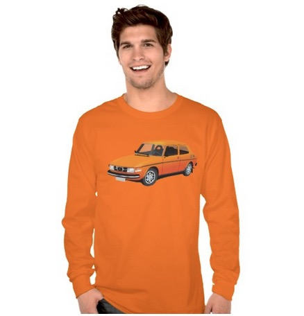 saab, saab99, t-shirt, long sleeve