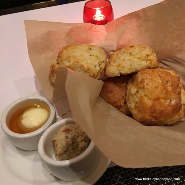 cheddar buttermilk biscuits at Hotel Shattuck Plaza in Berkeley, California
